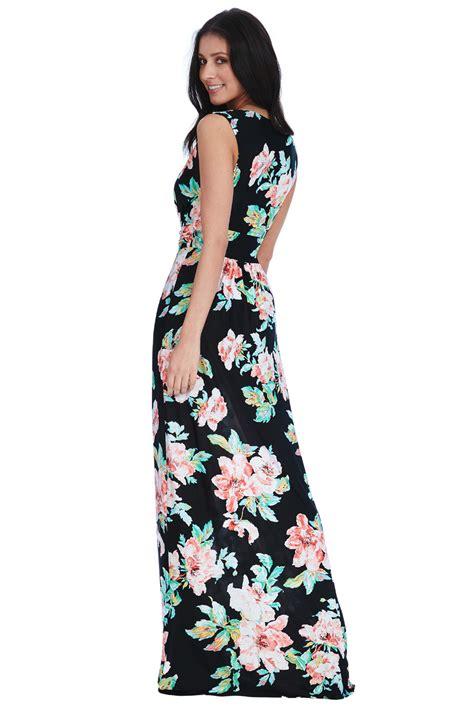 Vintage Flower Maxi Dress vintage flower maxi