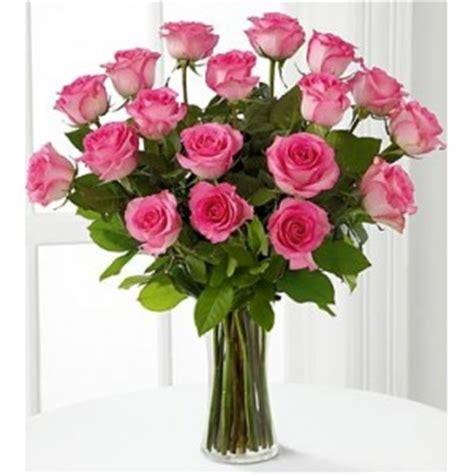 floreros santiago florero con 18 rosas rosadas ecuatorianas a domicilio