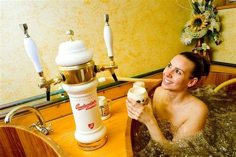 bathtub beer 6 beer spas where you can bathe in czech lager