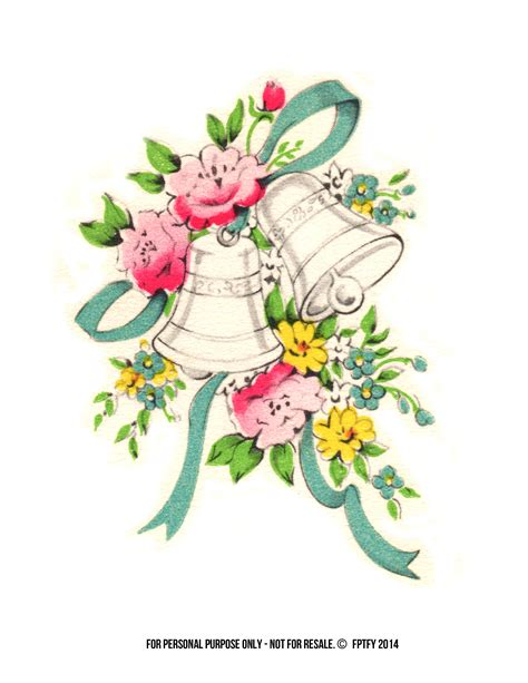 Wedding Bell Illustration by Vintage Clip Label Paper Clip Free And Vintage