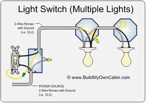different from one switch two lights wiring diagram wires