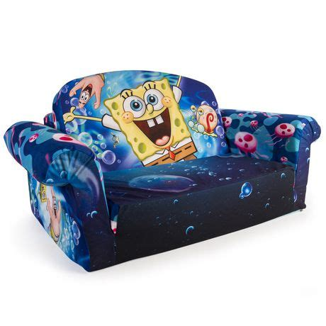spongebob flip open sofa marshmallow furniture spongebob 2 in 1 flip open sofa