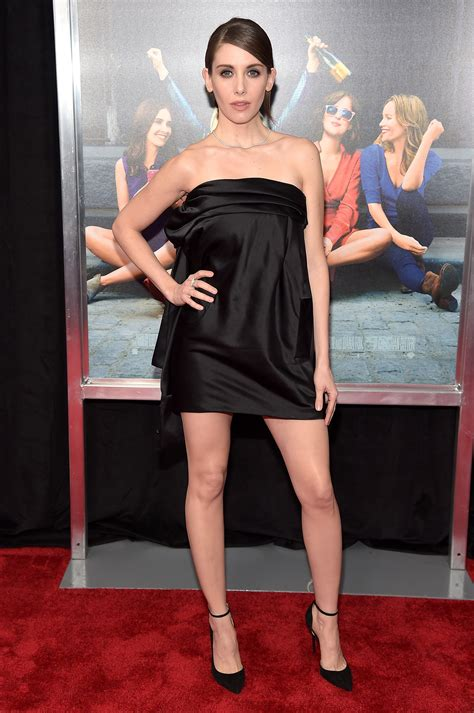 Dress Allison alison brie wears tiny black dress to quot how to be single
