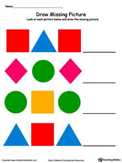 patterns with shapes for kindergarten 1000 images about teaching ideas on pinterest