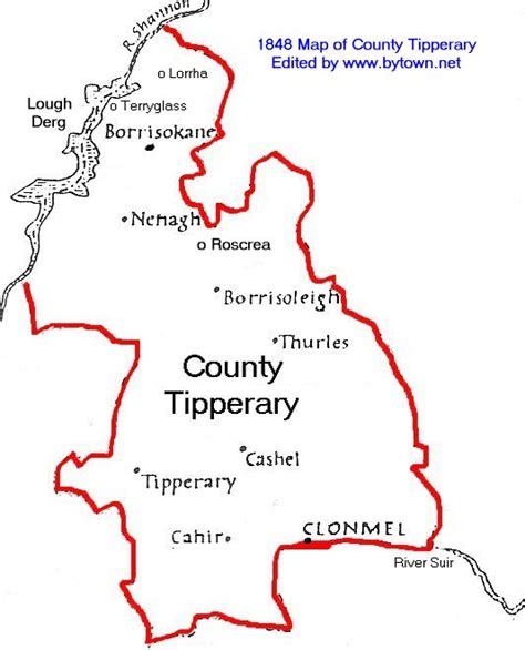 Tipperary Ireland Birth Records Map Of Ireland Tipperary My