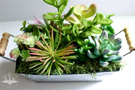 diy succulents diy faux succulent planter domestically creative