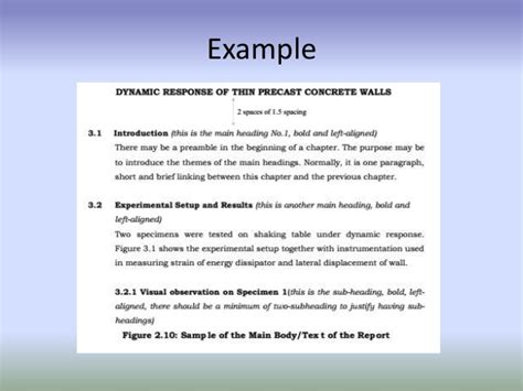 Engineering Report Template Uk Technical Report Writing Format Of Year Project S