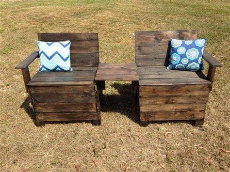 diy chair bench diy creative pallet chair patio bench 101 pallets