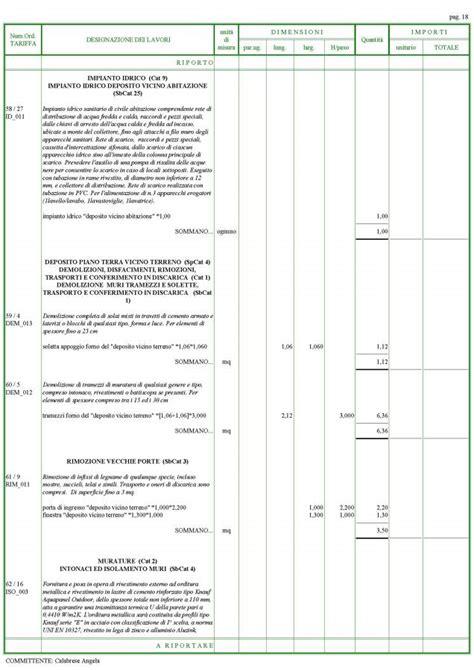 computo metrico per ristrutturazione appartamento mobili lavelli computo metrico ristrutturazione appartamento