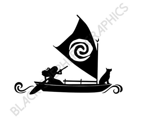 moana boat clip art moana boat silhouette pictures to pin on pinterest thepinsta