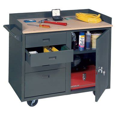service bench com edsal mb304 steel mobile service bench with 4 larg