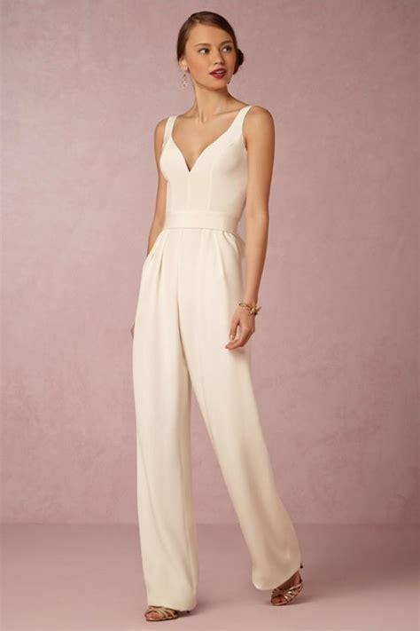 braut overall modern bridal jumpsuits pantsuits weddbook