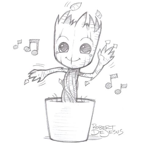 I M Drawing The Line by Groot By Banzchan Deviantart On Deviantart