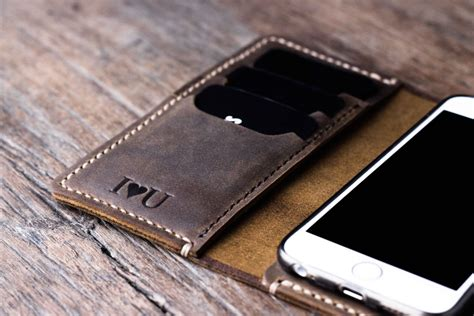 Handmade Leather Iphone Wallet - buy iphone wallet leather handmade original