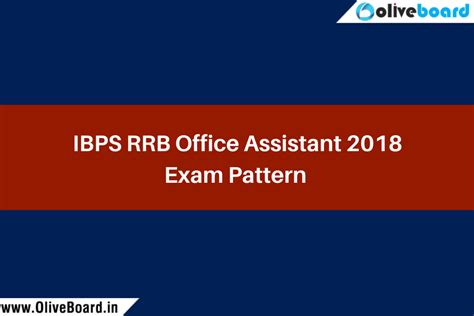 rrb exam pattern bank ibps rrb office assistant exam pattern 2018 ibps rrb