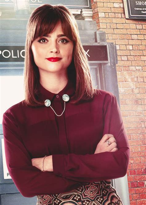 jenna coleman doctor who clara oswald red lips clara oswald hair and makeup pinterest