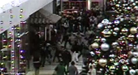 Causes Chaos At The Mall by Shopping Horror Security Shows Moment Chaos