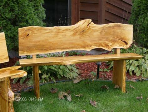 wood slab bench bass wood slab bench by john a eiselein artwanted com
