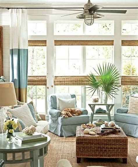 Beachy Curtains Designs 7 Coastal Decorating Tips