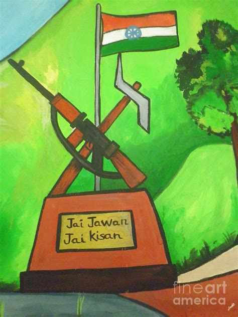 House Plans App jai jawan jai kisan drawing by artist nandika dutt