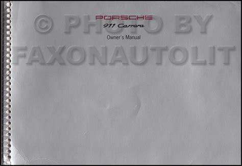 manual repair autos 1995 porsche 911 user handbook 1994 1995 porsche 911 carrera owner s manual original