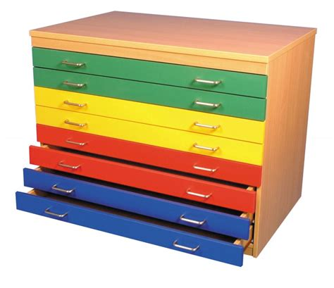 Paper Drawers by A1 Paper Storage Unit Eight Drawers Multicolour