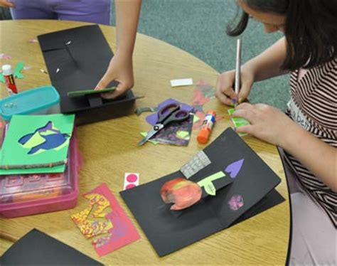 How To Make Things Pop Out On Paper - bookmaking with second graders carle museum
