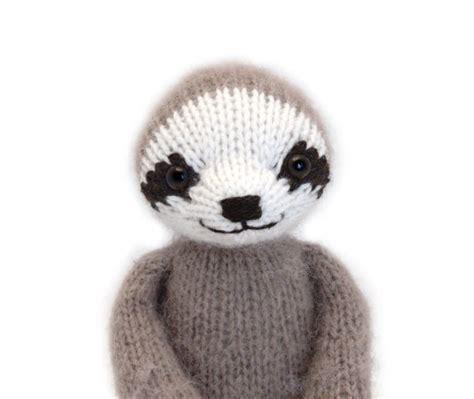 Three Toed Sloth Knitting Pattern By Fuzzymitten On Etsy