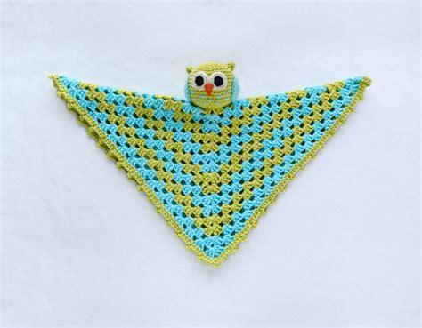Rle Instan owl lovey security blanket pdf crochet pattern instant