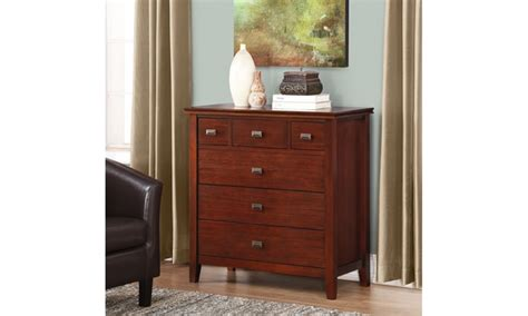 artisan 36 x 16 5 x 36 inch chest of drawers in medium
