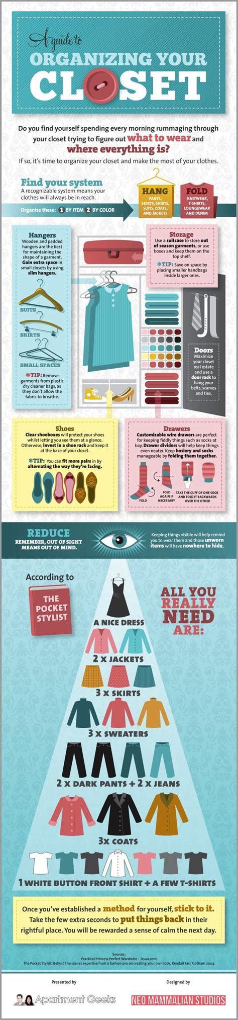 how to organise your closet organizing your closet daily infographic