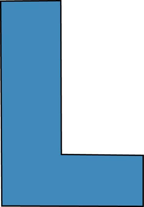 L Colored by Blue Alphabet Letter L Clip Blue Alphabet Letter L Image