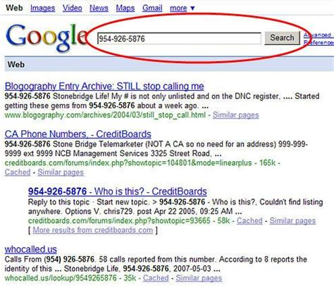 google images numbers google the phone number
