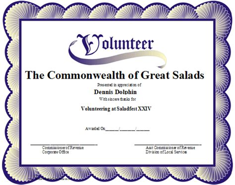 volunteer of the month certificate template exles of volunteer certificates pictures to pin on