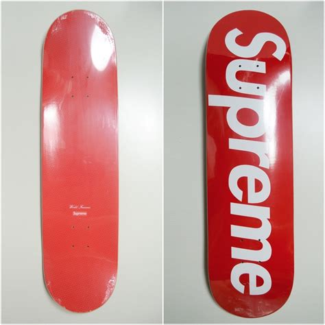 supreme skateboarding supreme x world logo type skate skateboard deck