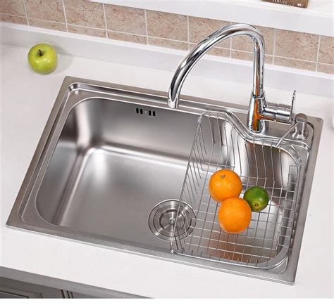 4 sizes single bowl kitchen sinks stainless steel kitchen