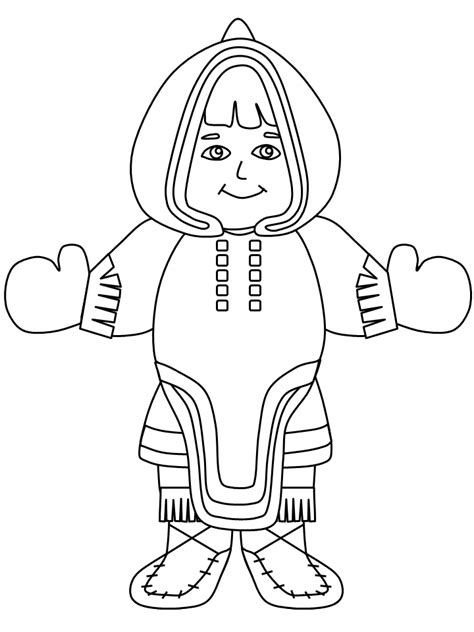 Inuit Coloring Pages inuit inukshuk az coloring pages