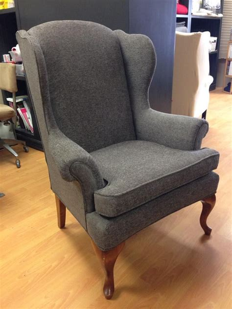 custom folding cing chairs reupholstered wing back chair work by custom covers