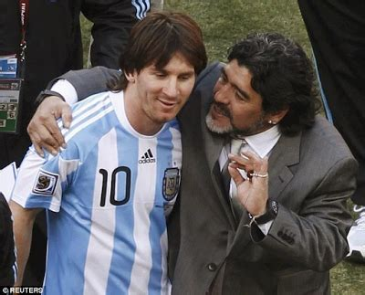diego maradona pleads with lionel messi not to retire from