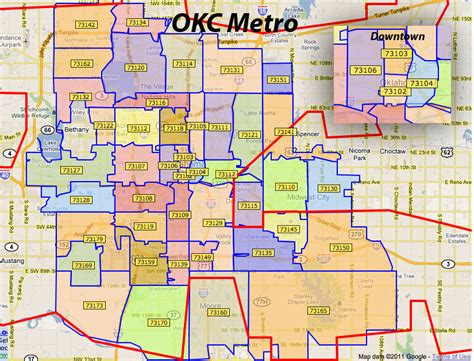 oklahoma city zip code map map of oklahoma city zip codes wisconsin map