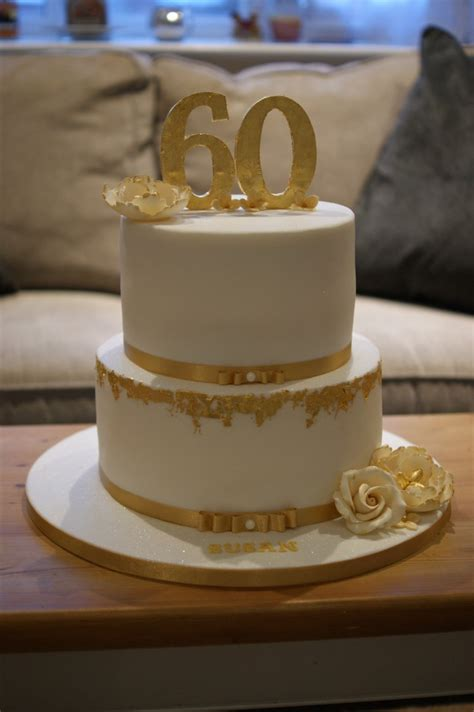 60th Birthday Cake by Gold Leaf 60th Birthday Cake Bakealous