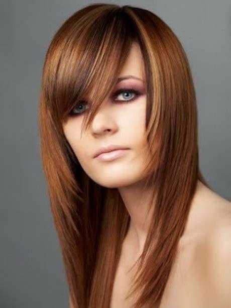 corte de pelo flequillo de lado cortes de cabello largo con flequillo de lado