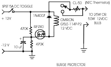 surge protection circuit diagram surge protector circuit schematic get free image about