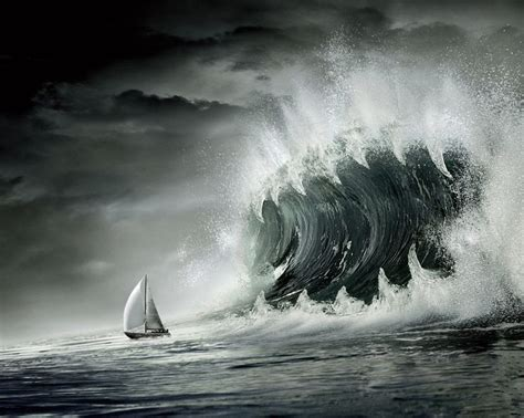 jaws sailboat wave jaws of death sailboat monster waves pinterest