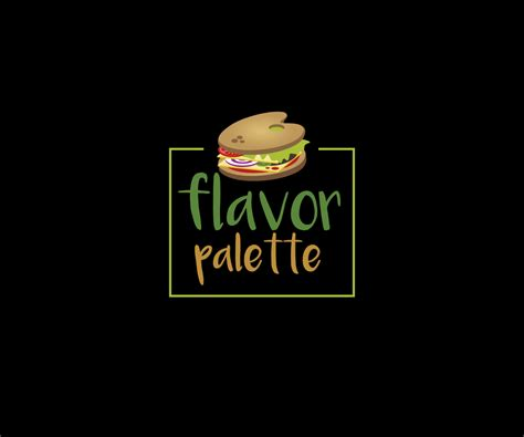 design a logo quickly playful modern restaurant logo design for flavor palette