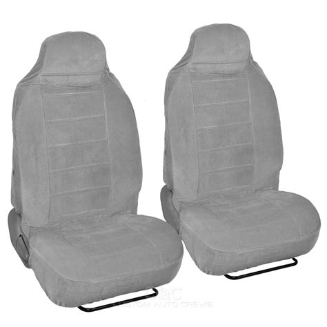 High Back Covers by Gray Front Seat Covers Set High Back Cover