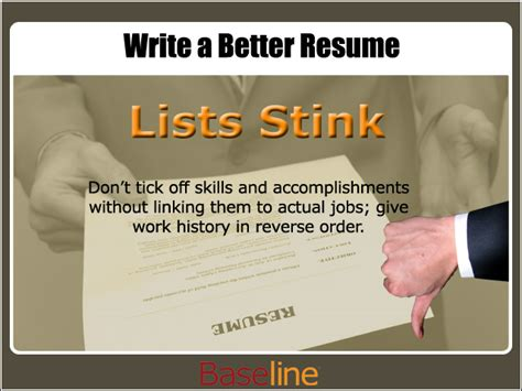 write a better resume careers news reviews baseline