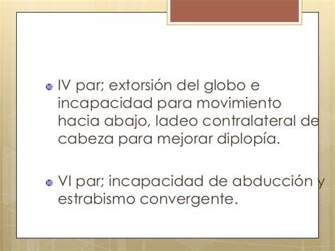oscilacion espasmodica del globo ocular semiologia oftalmologia