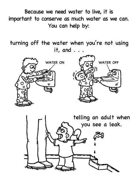 free coloring pages of saving water