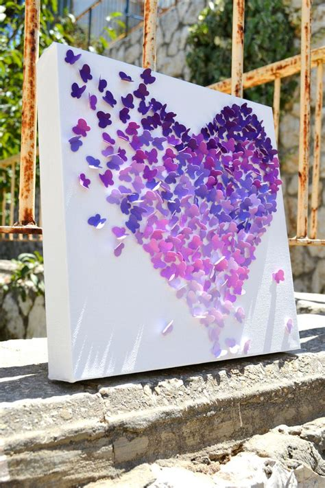 Purple Nursery Decor 3d Purple Obre Butterfly Wall Nursery Decor S Room Decor Wedding